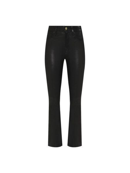 Кожаные брюки - черные Frame Denim