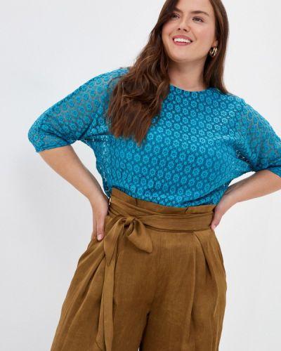 Бирюзовая блузка с коротким рукавом с короткими рукавами Prewoman