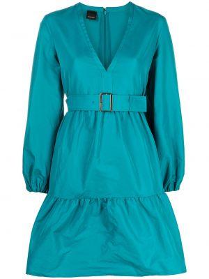Зеленое платье макси с длинными рукавами с V-образным вырезом Pinko