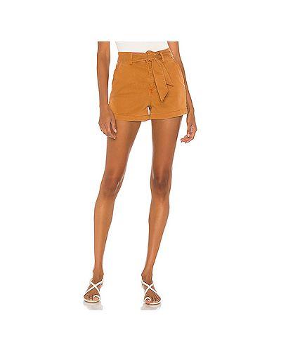 Оранжевые шорты с карманами на молнии Paige