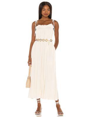 Złota sukienka długa - biała Majorelle