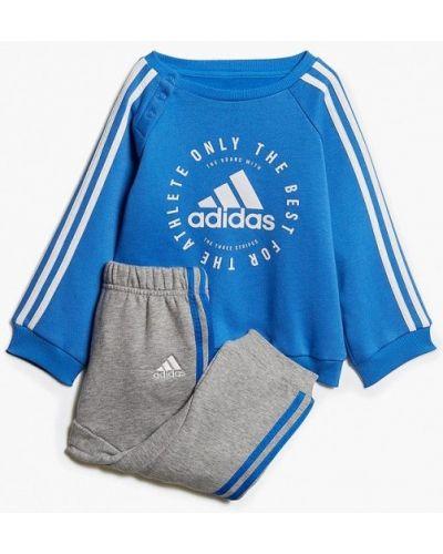 Спортивный костюм синий серый Adidas