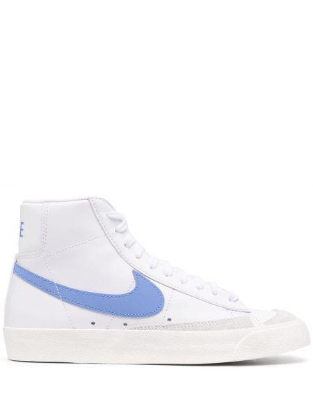 Ażurowy biały włókienniczy top zasznurować Nike