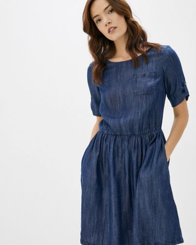 Расклешенное платье - синее Finn Flare