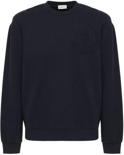 Bawełna bluza z kołnierzem z haftem Moncler
