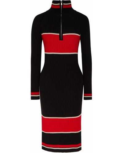 Шерстяное платье миди - черное Laroom