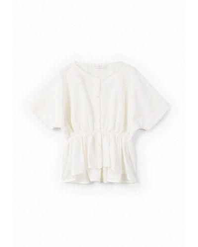 Белая рубашка Mango Kids