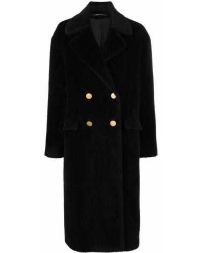 Черное пальто с карманами Tagliatore