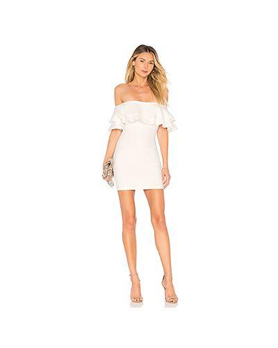 Платье мини шелковое с вырезом By The Way.