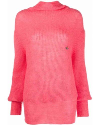 Розовый джемпер с вышивкой Vivienne Westwood