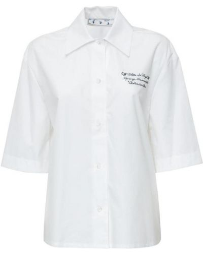 T-shirt - biała Off-white