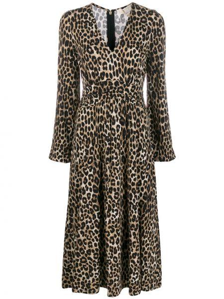 Платье миди макси с V-образным вырезом Michael Michael Kors