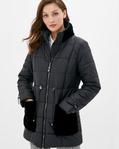 Черная утепленная куртка Perspective