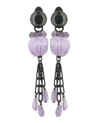 Фиолетовые клипсы Nature Bijoux