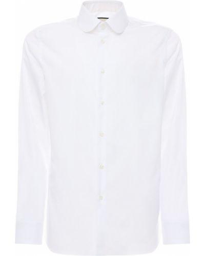 Biały koszula z kołnierzem z mankietami na przyciskach Gucci