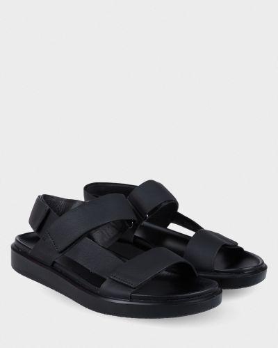 Кожаные сандалии - черные Ecco