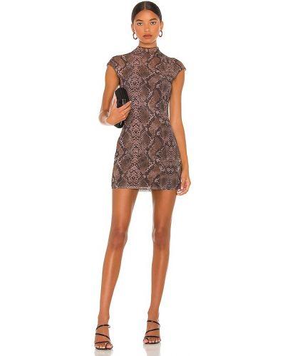 Облегающее платье мини - коричневое H:ours