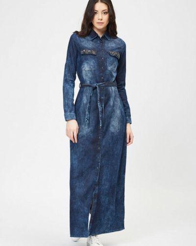 Джинсовое платье турецкий синее D'she