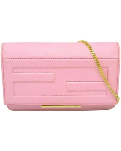 Kopertówka skórzana - różowa Fendi Vintage