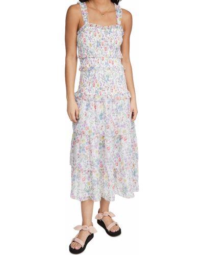 Шифоновое платье с декольте с подкладкой Saylor