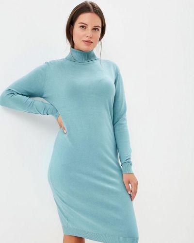 Повседневное платье осеннее бирюзовый Milanika