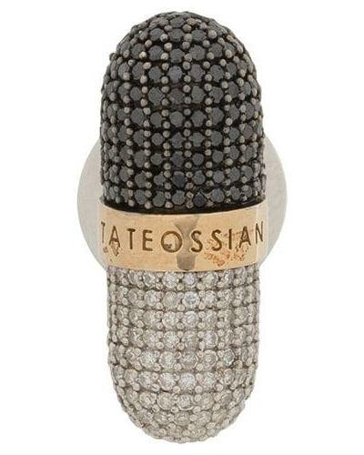 Черная брошь с бриллиантом Tateossian