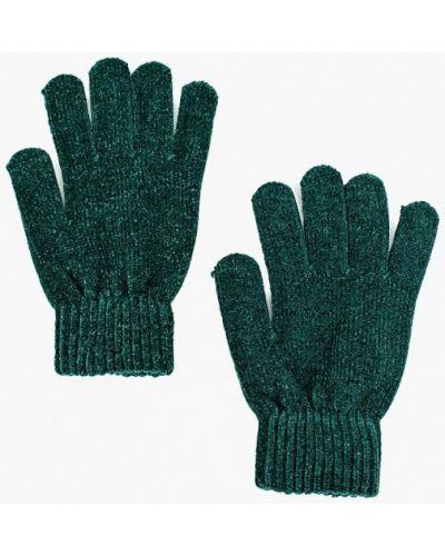 Зеленые перчатки текстильные Befree