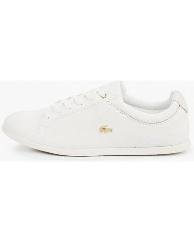 Кожаные белые низкие кеды Lacoste