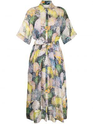 Фиолетовое платье с короткими рукавами Ginger & Smart