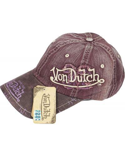 Кепка винтажная - бордовая Von Dutch