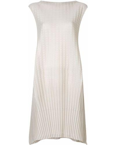 Плиссированное платье - бежевое Issey Miyake