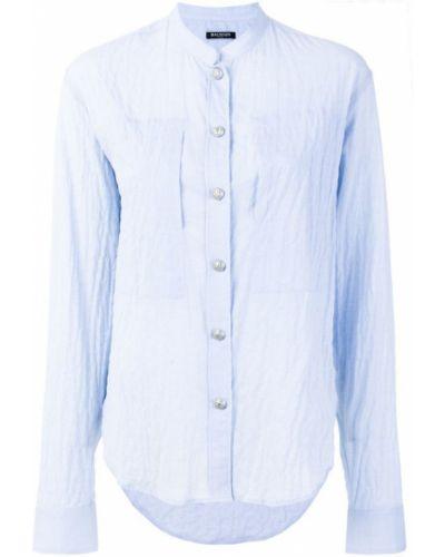 Классическая рубашка с длинным рукавом хлопковая Balmain