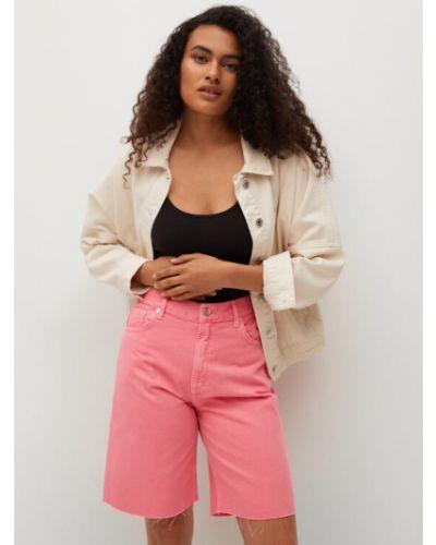 Szorty jeansowe - różowe Mango