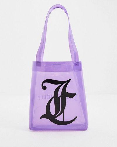 Фиолетовая сумка с ручками Juicy Couture