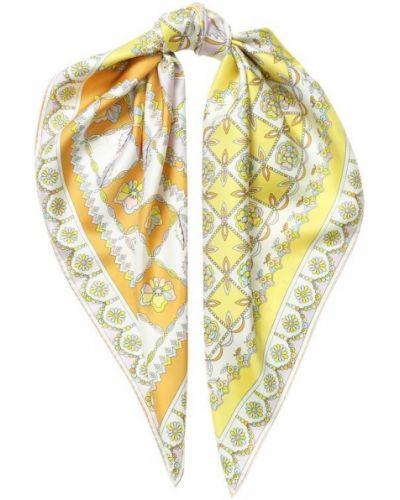 Платок с цветочным принтом из шелка Emilio Pucci
