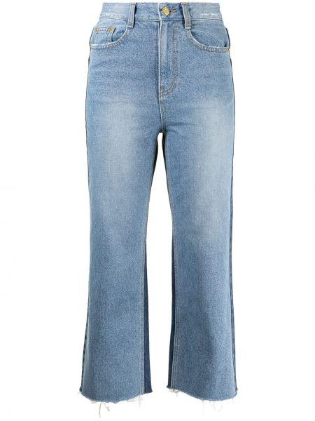 Klasyczne niebieskie spodnie bawełniane Sjyp