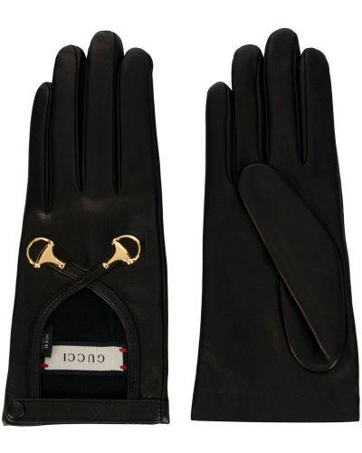 Кожаные перчатки шелковые Gucci