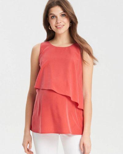 Блузка без рукавов коралловый красная Budumamoy