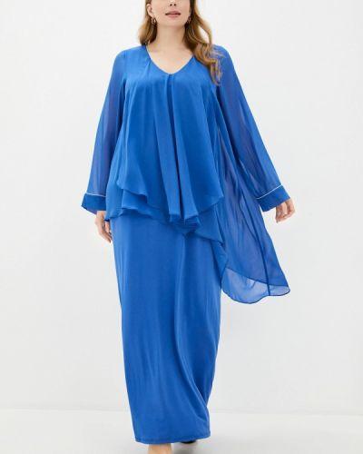 Синее вечернее платье Evans