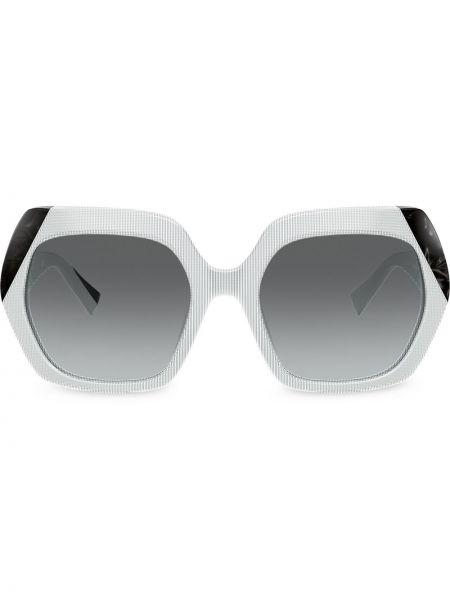 Białe okulary oversize Alain Mikli