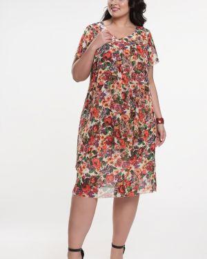 Летнее платье с цветочным принтом на торжество прима линия