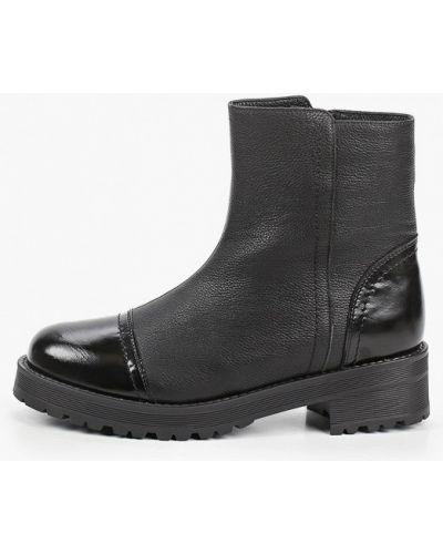 Черные лаковые кожаные ботинки Enzo Logana