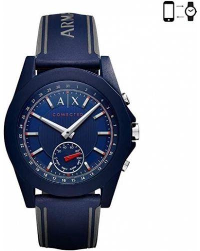 Niebieski zegarek kwarcowy Armani Exchange