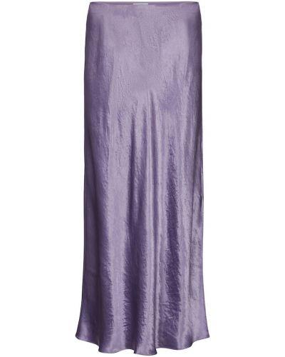 Сатиновая фиолетовая юбка миди Vince.