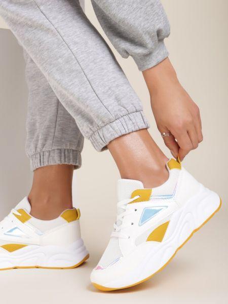 Żółte sneakersy Renee