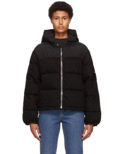 Czarny kurtka jeansowa z mankietami z kieszeniami z długimi rękawami Alexander Wang