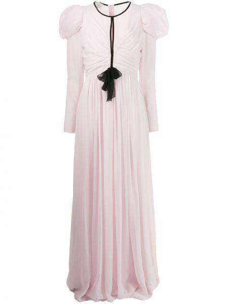 Вечернее платье с прозрачными рукавами шифоновое Giambattista Valli