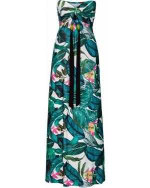 Летнее платье с цветочным принтом повседневное Bonprix