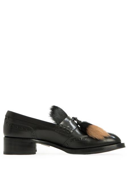Лоферы черные кожаные Prada
