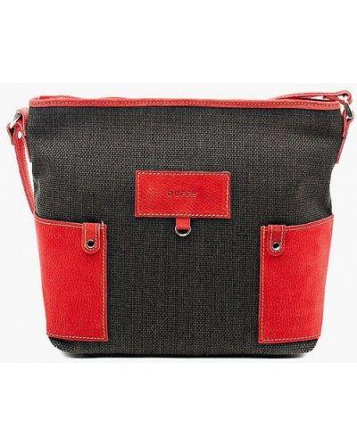 Черная сумка через плечо из натуральной кожи Duffy